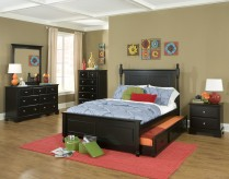 Morelle Black Twin 5pc Trundle Bedroom Group Available Online in Dallas Fort Worth Texas
