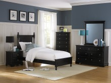 Morelle Black Twin 5pc Bedroom Group Available Online in Dallas Fort Worth Texas