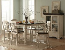 Ohana White 7pc Rectangular Counter Height Dining Room Set Available Online in Dallas Fort Worth Texas