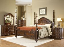 Prenzo Poster King 5pc Bedroom Group Available Online in Dallas Fort Worth Texas