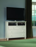 Sanibel White Media Chest Available Online in Dallas Fort Worth Texas