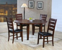 Homelegance Ameillia Dark Oak 5pc Round w/Lazysusan Dining Room Set Available Online in Dallas Fort Worth Texas