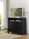 Sanibel Black Media Chest Available Online in Dallas Fort Worth Texas