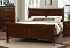Mayville Brown Cherry King Bed Available Online in Dallas Fort Worth Texas