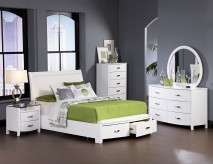 Homelegance Lyric White Queen 5pc Bedroom Group Available Online in Dallas Fort Worth Texas