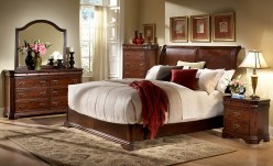 Homelegance Karla 5pc Cherry Queen Sleigh Bedroom Set Available Online in Dallas Fort Worth Texas