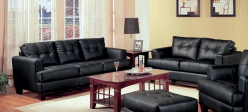 Samuel Black Sofa & Loveseat Set Available Online in Dallas Fort Worth Texas