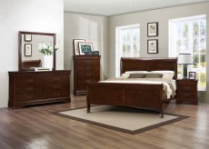 Mayville 5pc Brown Cherry Queen Bedroom Group Available Online in Dallas Fort Worth Texas