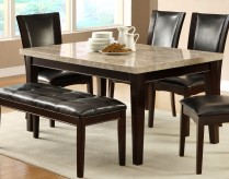 Homelegance Hahn Espresso Dining Table with Marble Top Available Online in Dallas Fort Worth Texas