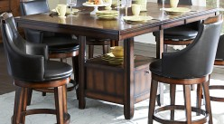Homelegance Bayshore Storage Rectangular Counter Height Table Available Online in Dallas Fort Worth Texas