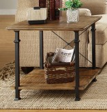 Factory Rustic Brown End Table Available Online in Dallas Fort Worth Texas