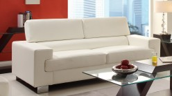 Homelegance Vernon White Sofa Available Online in Dallas Fort Worth Texas