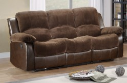 Cranley Chocolate 2-Tone Reclining Sofa Available Online in Dallas Fort Worth Texas