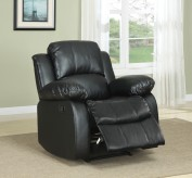 Cranley Black Reclining Chair Available Online in Dallas Fort Worth Texas