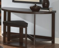 Brussel Wood Top Sofa Table With Stool Available Online in Dallas Fort Worth Texas