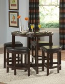 Homelegance Brussel Wood Top 5pc Counter Height Set Available Online in Dallas Fort Worth Texas
