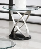 Homelegance Firth Chrome End Table Available Online in Dallas Fort Worth Texas