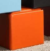 Ladd Orange Storage Cube Ottoman Available Online in Dallas Fort Worth Texas