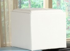 Ladd White Storage Cube Ottoman Available Online in Dallas Fort Worth Texas