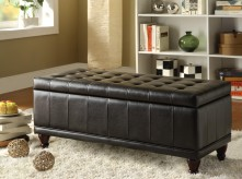Afton Dark Brown Lift Top Storage Bench Available Online in Dallas Fort Worth Texas