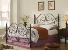 London Queen Metal Bed Available Online in Dallas Fort Worth Texas