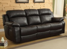 Homelegance Marille Black Reclining Sofa Available Online in Dallas Fort Worth Texas