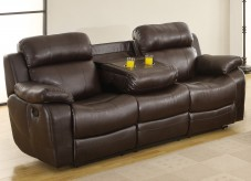 Homelegance Marille Brown Reclining Sofa Available Online in Dallas Fort Worth Texas
