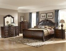 Hillcrest 5pc Dark Cherry King Bedroom Set Available Online in Dallas Fort Worth Texas