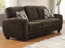Homelegance Rubin Chocolate Sofa Available Online in Dallas Fort Worth Texas