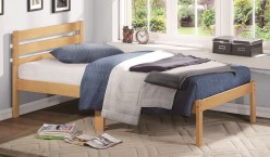 Bart Light Oak Twin Platform Bed Available Online in Dallas Fort Worth Texas