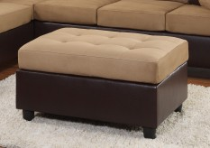Homelegance Comfort Light Brown Ottoman Available Online in Dallas Fort Worth Texas