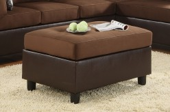 Homelegance Comfort Chocolate Ottoman Available Online in Dallas Fort Worth Texas