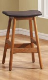 Saddle Dark Brown Counter Height Stool Available Online in Dallas Fort Worth Texas