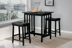 Homelegance Scottsdale 3pc Black Counter Height Set Available Online in Dallas Fort Worth Texas