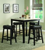 Homelegance Archstone 5pc Black Counter Height Set Available Online in Dallas Fort Worth Texas