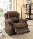 Cranley Chocolate 2-Tone Reclining Chair Available Online in Dallas Fort Worth Texas