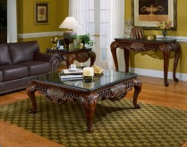 Homelegance Gladstone Cherry 3pc Coffee Table Set Available Online in Dallas Fort Worth Texas