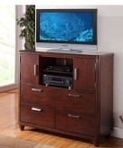 Beaumont Brown Cherry Media Chest Available Online in Dallas Fort Worth Texas