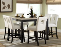 Homelegance Archstone 7pc White Counter Height Dining Room Set Available Online in Dallas Fort Worth Texas