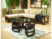 Homelegance Brussel 3pc Coffee Table Set With 2 Stool Available Online in Dallas Fort Worth Texas