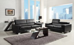 Homelegance Vernon Black Sofa & Loveseat Set Available Online in Dallas Fort Worth Texas