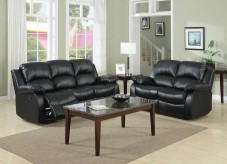 Cranley Black 2pc Reclining Sofa & Loveseat Set Available Online in Dallas Fort Worth Texas