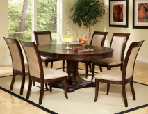 SteveSilver Marseille 7pc Pedestal Dining Set Available Online in Dallas Fort Worth Texas