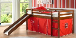 Bart Red Twin Tent Loft Bed W/Slide Available Online in Dallas Fort Worth Texas