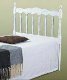Spindle White Twin Headboard Available Online in Dallas Fort Worth Texas