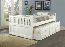 Twin White Mission Captain Bed Available Online in Dallas Fort Worth Texas