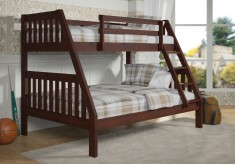 Zed Cappuccino Twin/Full Bunk Bed Available Online in Dallas Fort Worth Texas