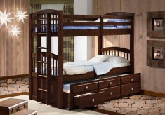 Angelica Cappuccino Twin/Twin Bunk Bed Available Online in Dallas Texas