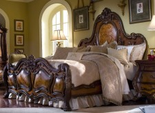 Chateau Beauvais Queen Panel Bed by Aico Available Online in Dallas Texas