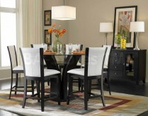 Homelegance Daisy 7pc White Counter Height Dining Room Set Available Online in Dallas Fort Worth Texas